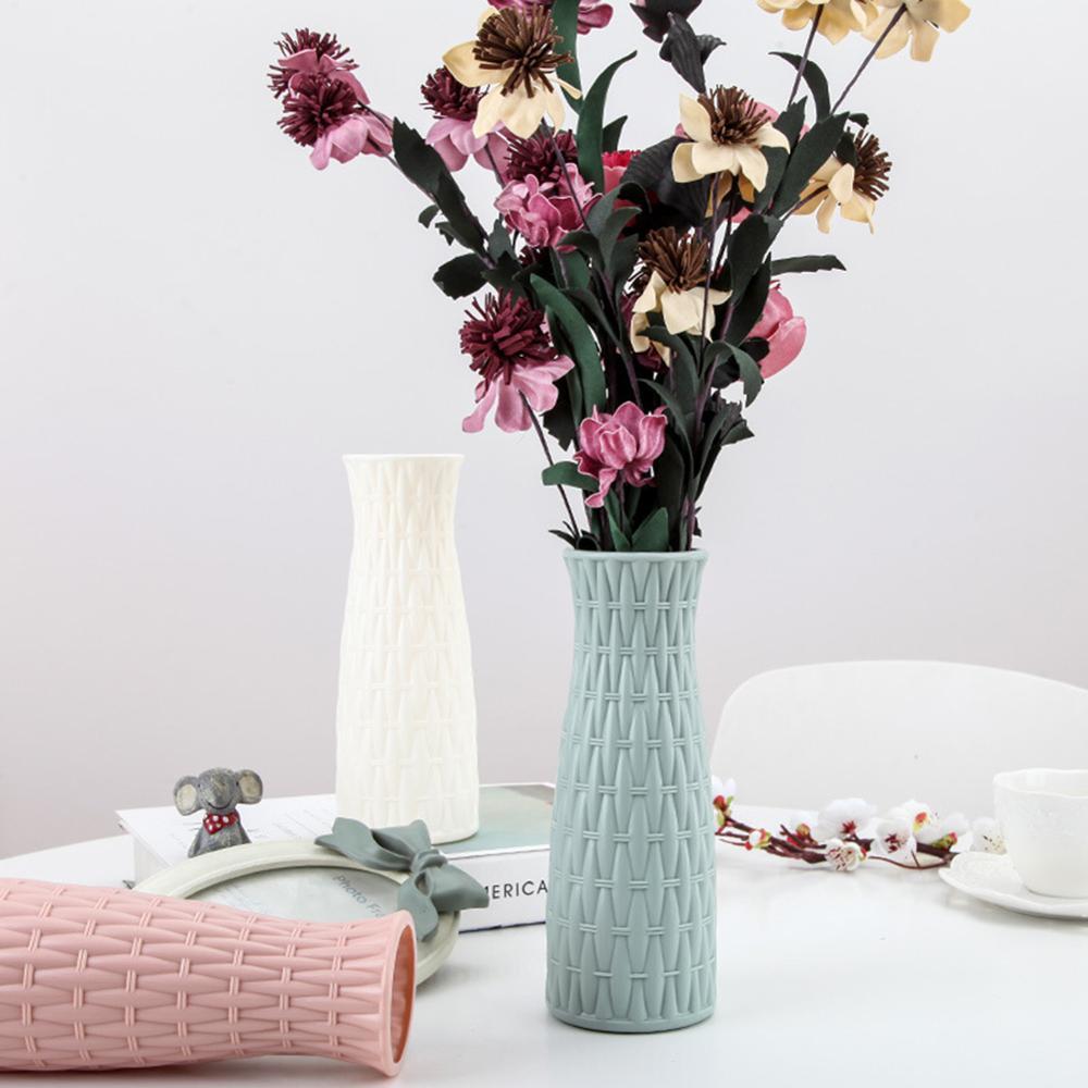Скандинавском стиле Цветочная корзина ваза для цветов и рисунком в виде птичек-оригами Пластик ваза мини бутылка имитация Керамика украшение цветочный горшок для дома