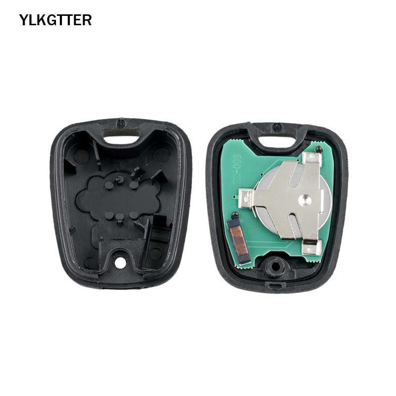 Ylkgtter 2 botões remoto chave fob controlador para peugeot 206 433/434 mhz id46/pcf7961 transponder chip & uncut diy ne73 lâmina