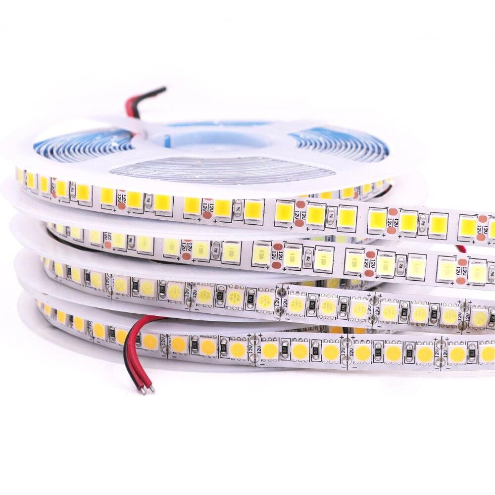 5M 5050 RGB LED Strip Light 12V Flexible LED Tape Ribbon 5054 2835 5630 4040 Waterproof Stripe Light 120 240 480 360 Led String