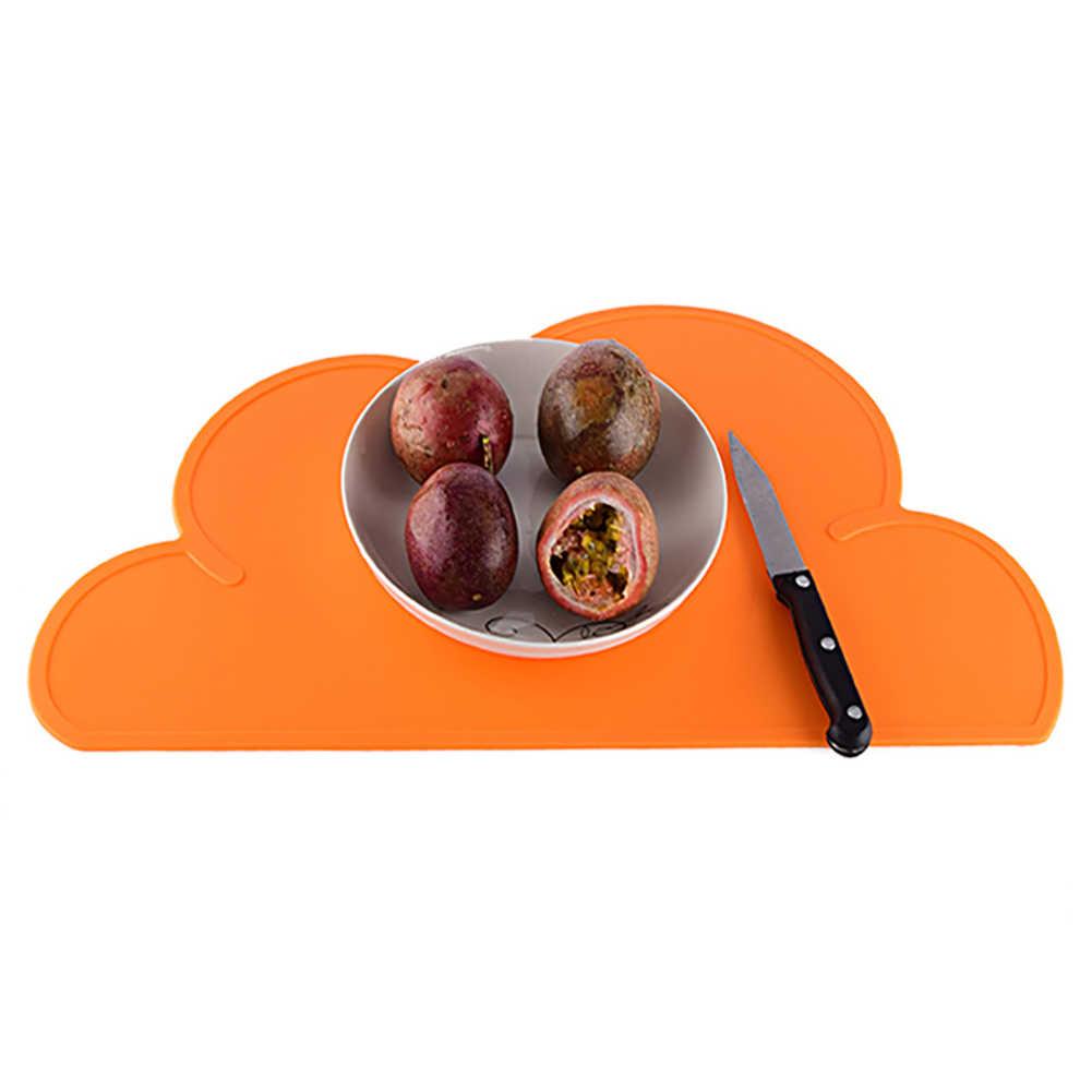 Przenośna podkładka silikonowa w kształcie chmury dzieci talerz dla dzieci mata wodoodporna zastawa stołowa żaroodporna podstawka pod garnek Home Dinner Tools