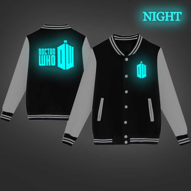 Doctor Who Baseball Jacket Hip Hop Sweatshirt Unisex Harajuku Baseball Windbreaker Women Men Jacket Coat Streetwear Tracksuit