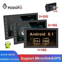 "Podofo Android 2din Auto Radio 7 ""Multimedia Player Autoradio Touch screen GPS WIFI Bluetooth Car Audio Radio Stereo Specchio link"