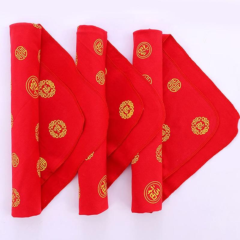 Newborn Baby Soft Skin-friendly Blanket Big Red Baifu Hold Blanket  Baby Bedding Supplies Kids Care Accessories