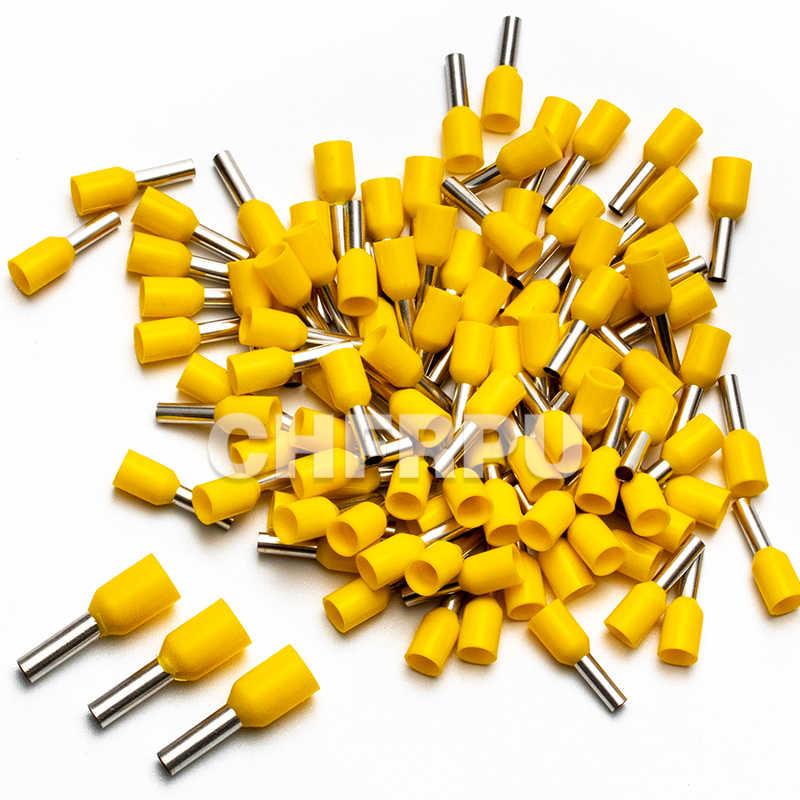 100 x terminatore ISOLATO GIALLO 6 mm²