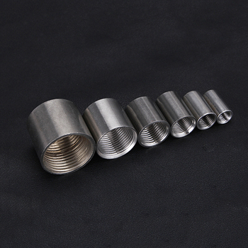 1/8 1/4 3/8 1/2 3/4 1 BSP Female Coupling Coupler Connector Round 304 Stainless Steel Pipe Fitting Water Gas Oil image