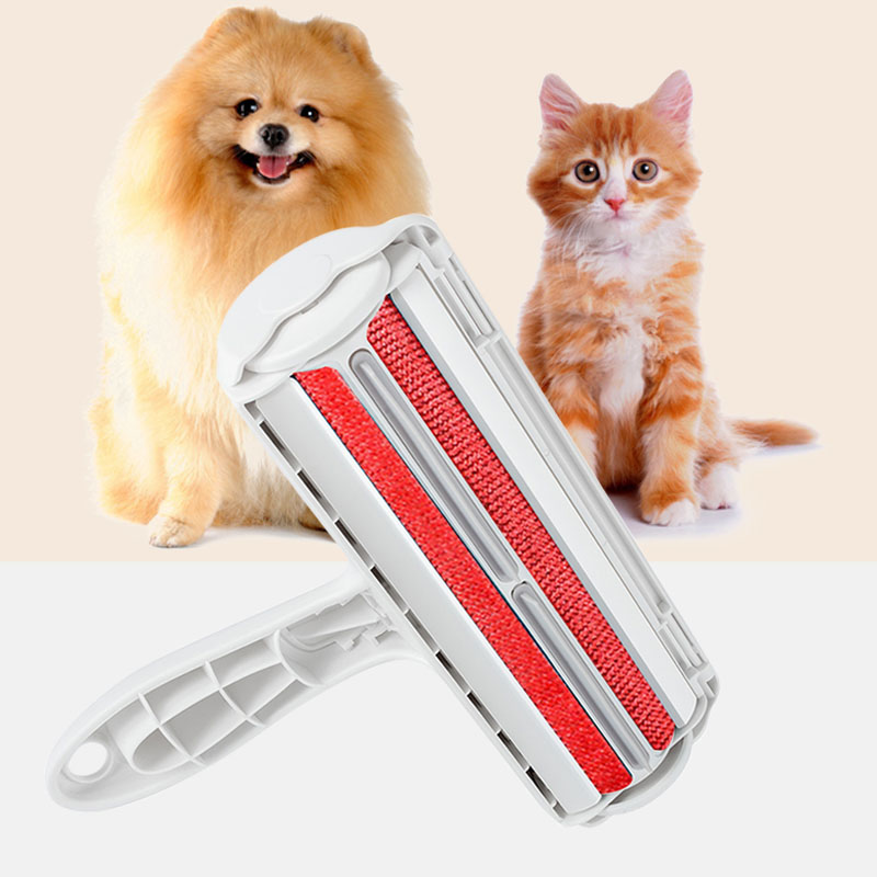 2 -Way Pets Hair Removing Products Remover Roller Sticking For Clear Dog Cat Accessories Grooming Brush From Carpets Clothing(China)
