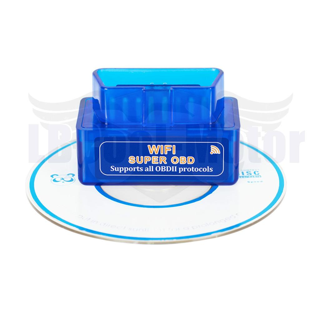 <font><b>Wi</b></font>-<font><b>Fi</b></font> OBD <font><b>ELM327</b></font> Automated Inspectors <font><b>1.5</b></font> PIC25K80 Blue Chip Car Auto Diagnostic Tool Interface CD Scanner for OBD2 Smart Phone image