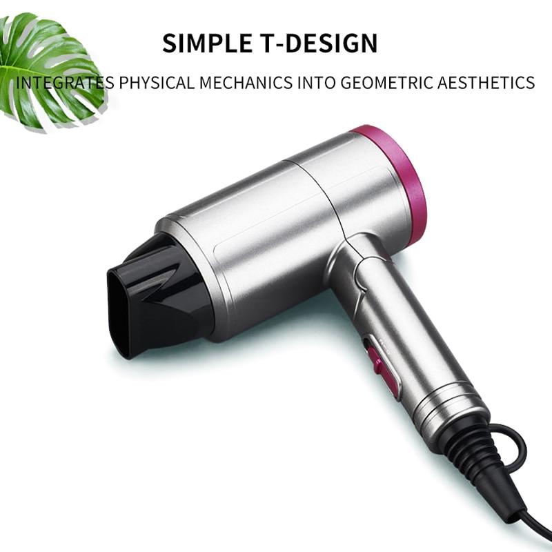 Портативный мини-фен для волос, складной анион, фен, металлическая краска-спрей, 1200 Вт, многофункциональные легкие инструменты для волос для путешествий