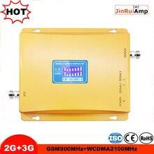 Amplificador celular 2g 3g 900/2100 mhz do telemóvel da faixa dupla do repetidor 900 3g umts 2100 do impulsionador do sinal celular