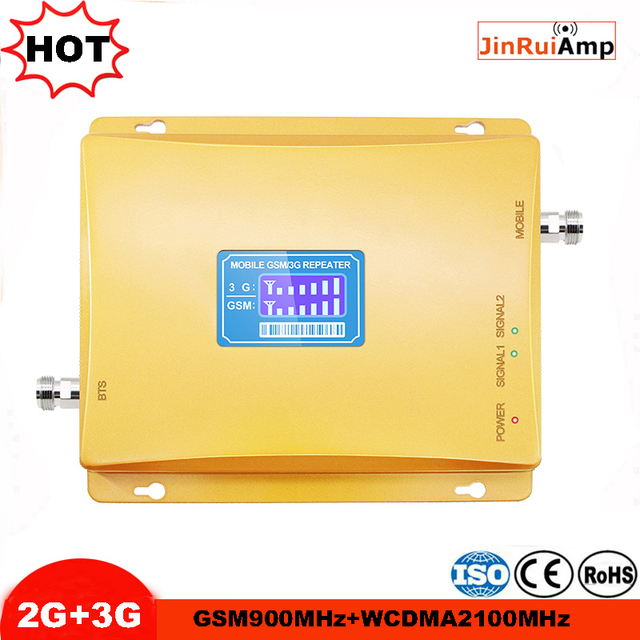 Cellulaire Signaal booster GSM repeater 900 3G UMTS 2100 Dual Band Mobiel Versterker 2g 3g 900/ 2100Mhz