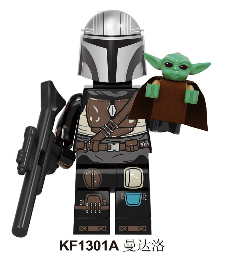 Building Blocks Wars Darth Vader Baby Yoda Mandalorian Rey PoE Dameron  Jango Fett Drabatan Figure  Children Gift Toys KF1301A