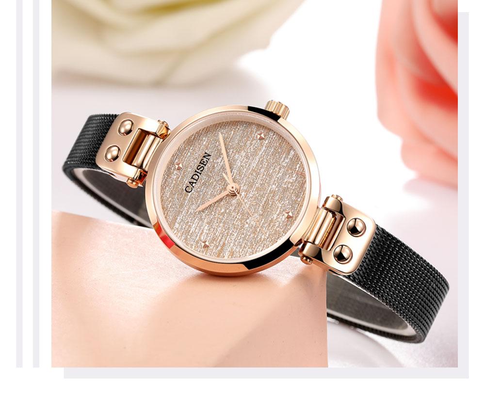 Saatler'ten Kadın Saatleri'de CADISEN 2019 yeni saatler kadınlar lüks marka izle kadın Safir Arama Kuvars kol saati altın kadın saatler Reloj Mujer + kutu'da  Grup 1