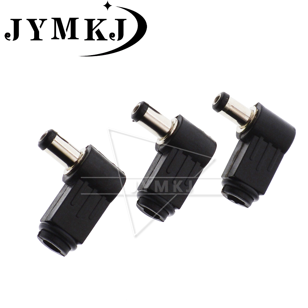 10pcs Male <font><b>DC</b></font> Power <font><b>Plug</b></font> Connector Angle 90 degree L Shaped plastic <font><b>5.5</b></font>*2.5 <font><b>5.5</b></font>*2.1mm image