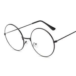 2020 New Retro Round Circle Metal Frame Round Women Eyeglasses Original Clear Lens Men Reading Glasses Styles High Quality Hot