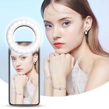 Fotografie Dimmbare Füllen Licht Selfie Ring Licht Youtube Telefon Mini LED Video Licht Universal für iPhone Samsung Huawei Xiaomi