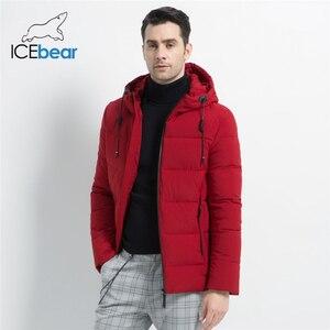 Image 1 - ICEbear 2019 חדש גברים של חורף מעיל באיכות גבוהה גברים של מעיל ברדס זכר מעיל לעבות חם גבר הלבשה MWD18925I