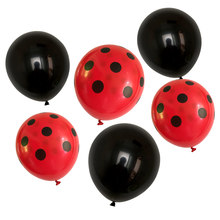 12 pçs/lote 12 polegada preto vermelho branco ponto látex balões bolinhas ponto onda globos aniversário festa de casamento decoração suprimentos crianças brinquedo