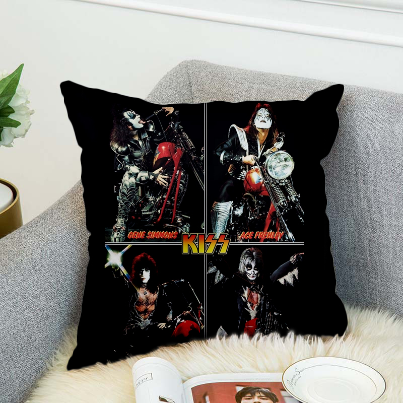 KISS Rock Roll All Nite Party Pillow Case Polyester Decorative Pillowcases Throw Pillow Cover style 5