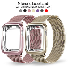 цена на Milanese Loop Band For Apple Watch 42mm 38mm Link Bracelet Strap Magnetic Adjustable Buckle With Adapter For Iwatch Series 4321