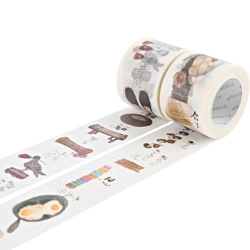 Kinbor Washi лента рукоделие изоляционная лента милые школьные поставщики канцелярские подарки из искусственного материала