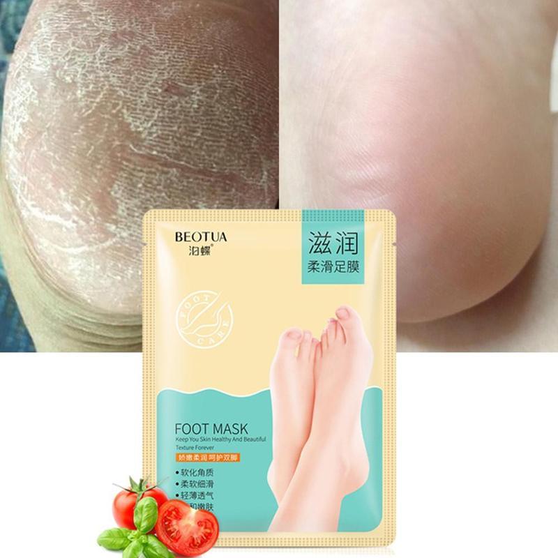 1 Piar Moisturizing Foot Mask Hydrating Exfoliator Anti-Drying Anti-Crack Whitening Feet Mask Foot Care Tool
