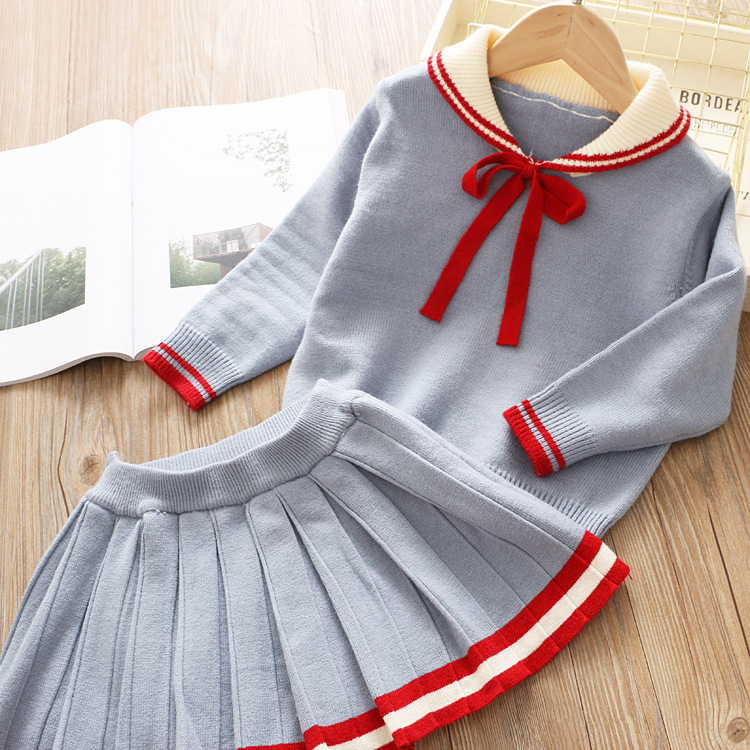 H52d814aacdd84c048d6cf8760ae11d9cW Bear Leader Girls Dress 2019 Winter Geometric Pattern Dress Long Sleeve Girls Clothes Top Coat+ Tutu Dress Sweater Knitwear 2pcs