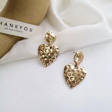 Модные ювелирные изделия серьги в форме сердца популярный дизайн