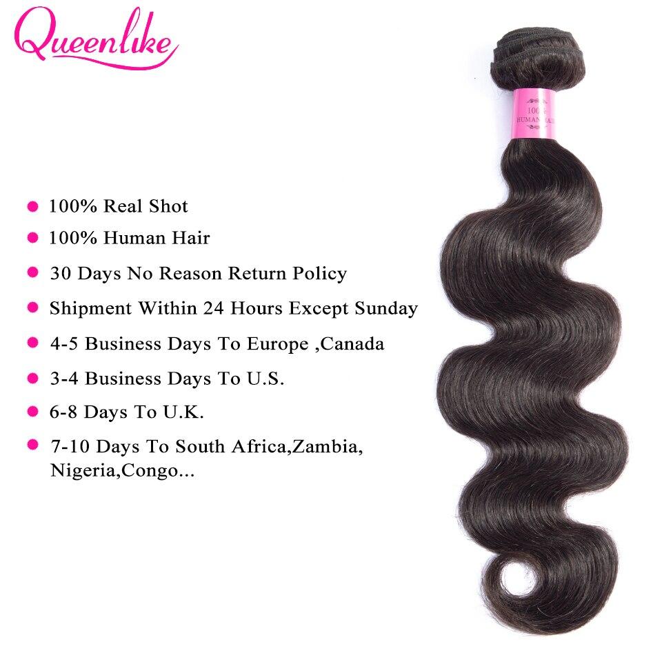 H52d81ebb86384308803c3a03ace75c7cc Queenlike Hair 3 Bundles Brazilian Body Wave With 6x6 Big Lace Closure Double Weft Non Remy Human Hair Bundles With Closure