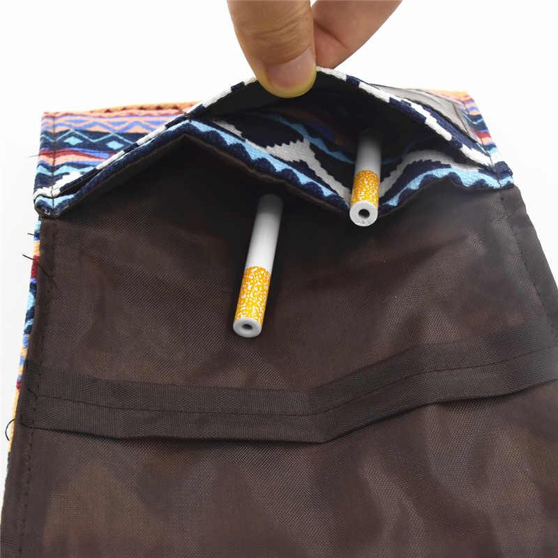 Sac de tabac en tissu pliable 1 unité | Pochette de rangement de cigarettes en papier roulant, accessoires de tabac portables