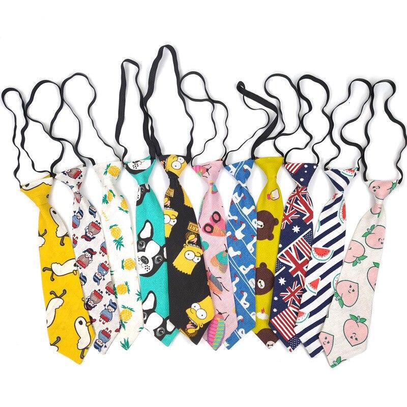 7cm/28cm Tie Kid Children Cartoon Cotton Linen Creativity Fun Gifts Men Lady Student Girls Korean Shirt Gravatas Rubber Tie