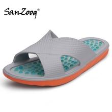 Sanzoog קיץ מקורה נעלי בית גברים נעל חדר אמבטיה בית Badslippers Plaj Terlik אקופרסורה Zapatillas דה Casa 49s