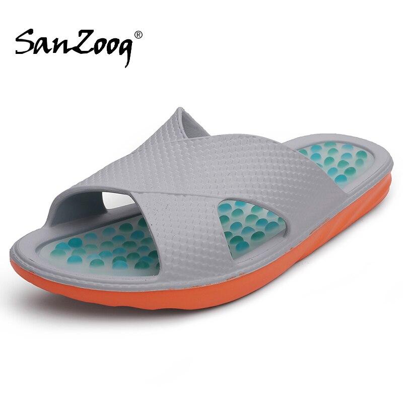 Sanzoog Summer Indoor Foot Massage Slippers Men Bathroom Slipper Home Badslippers Plaj Terlik Acupressure Zapatillas De Casa 49s|Slippers| |  - AliExpress