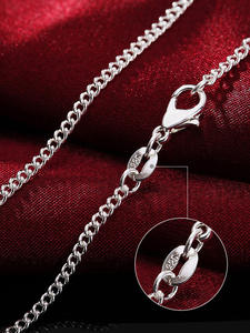 Necklace Jewelry Charm Side-Chain 925-Sterling-Silver AGLOVER Fashion Woman New for Gift