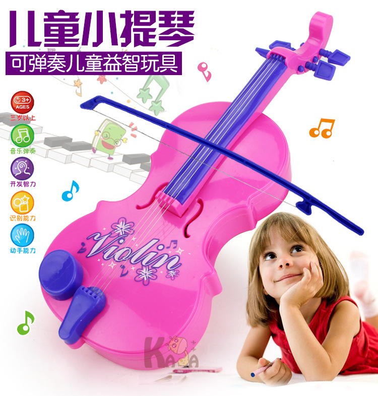 1272 Magic Violin Toy Model Violin Playing Baby Music ENLIGHTEN Education With Music Light