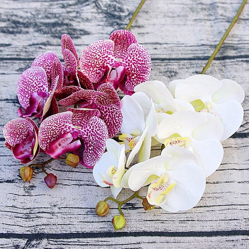 3d artificial borboleta orquídea flores falso traça flor orquídea flor para casa decoração de casamento diy toque real decoração casa flore|Flores secas artificiais|   -