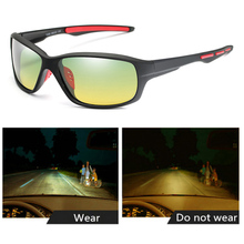 Driving Sunglasses Men Night Vision Polarized Anti-Glare Lens Glasses UV400
