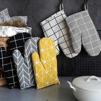 Guantes De horno De algodón nórdico Kawaii grueso resistentes al calor diseño...