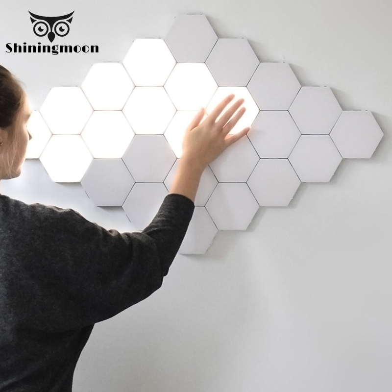 modern LED Wall Lamp loft British Creative Honeycomb Modular Assembly Helios Touch Wall Lamps Quantum lamp Magnetic Wall Light