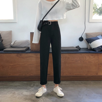 2020 New Style Jeans Women's High-waisted Slimming Hong Kong Flavor Retro Straight-leg Pants Casual Trousers вибратор hong kong might give my love
