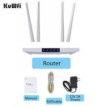 KuWFi 4G LTE CPE yönlendirici Unlocked FDD/TDD SIM kart 4G yönlendirici CAT4 150Mbps desteği 32 wifi kullanıcıları ile RJ45 WAN/LAN portu