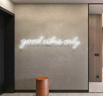 Lampa neonowa standardowy znak neonowy dobre wibracje tylko whrite 30*150cm tanie i dobre opinie BINFU Neon żarówki 1 years Handlowych Indoor OUTDOOR 220 v Waterproof 14inch