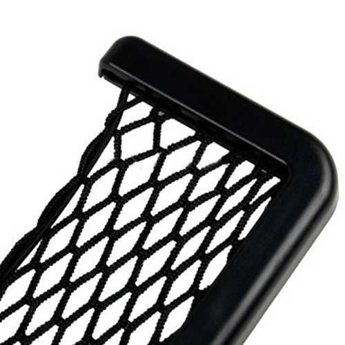 Çift taraflı yapışkan TapeUniversal araba koltuğu yan arka Toughs depolama Net çanta telefon tutucu cep düzenleyici siyah tasarlanmış