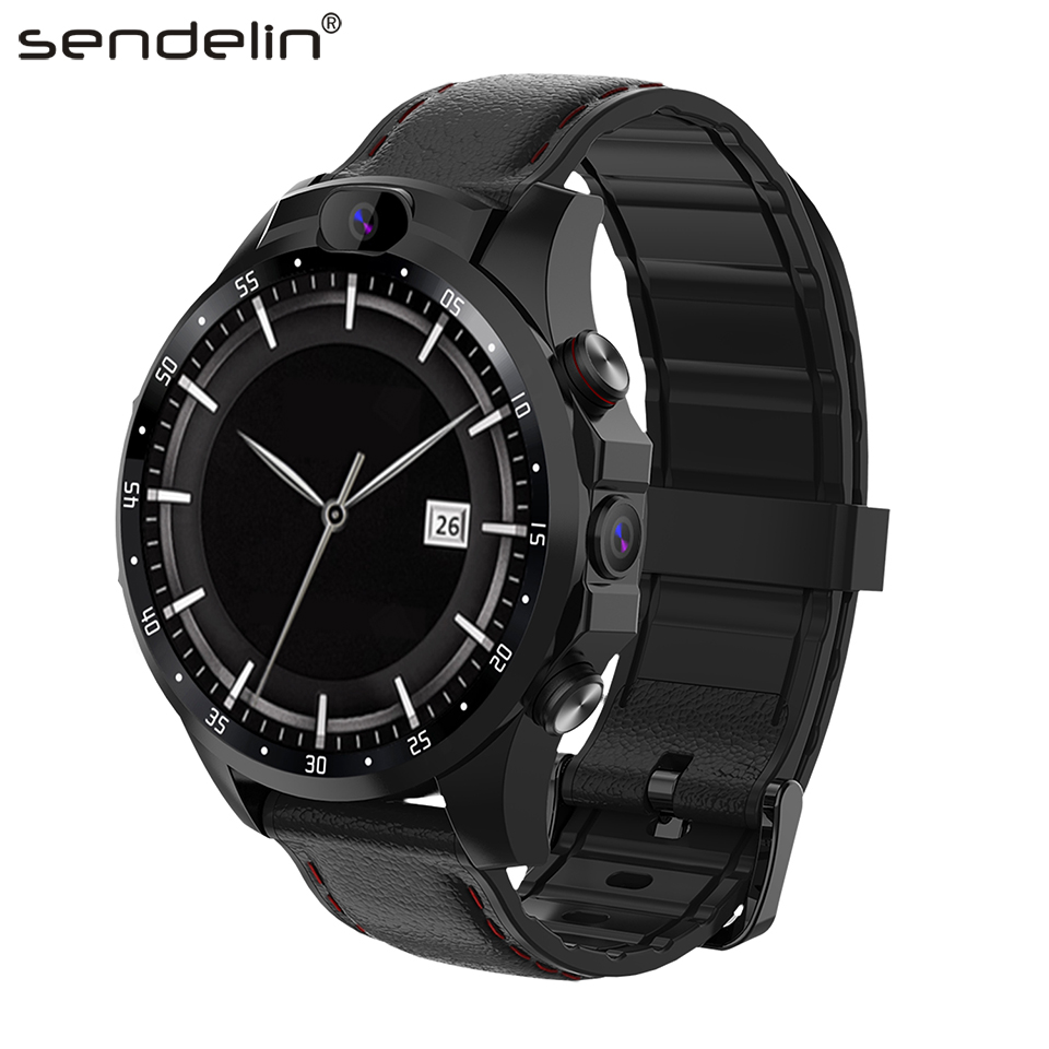 <font><b>Smartwatch</b></font> men <font><b>4G</b></font> call wear watch SIM card GPS HD camera Android smart watch for Huawei xiaomi phone PK gt amazfit bip Stratos image