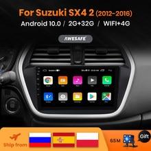 AWESAFE-reproductor Multimedia con Android 10 y navegación GPS para Suzuki, autorradio 2Din con reproductor de vídeo, para Suzuki SX4 S Cross 2012 2013 2014 2015 2016 Suzuki-SX4 s-class, PX9