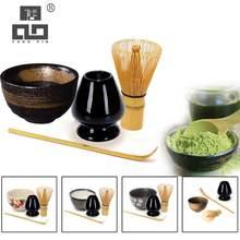 TANGPIN 4 unids/set tradicional matcha-imaginativos-pretender de matcha batidor de ceremic Matcha tazón bata titular té japonés conjuntos
