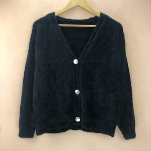 2021 autumn women's deep v-neck open back button cardigan knitted sweater Women's Cardigans