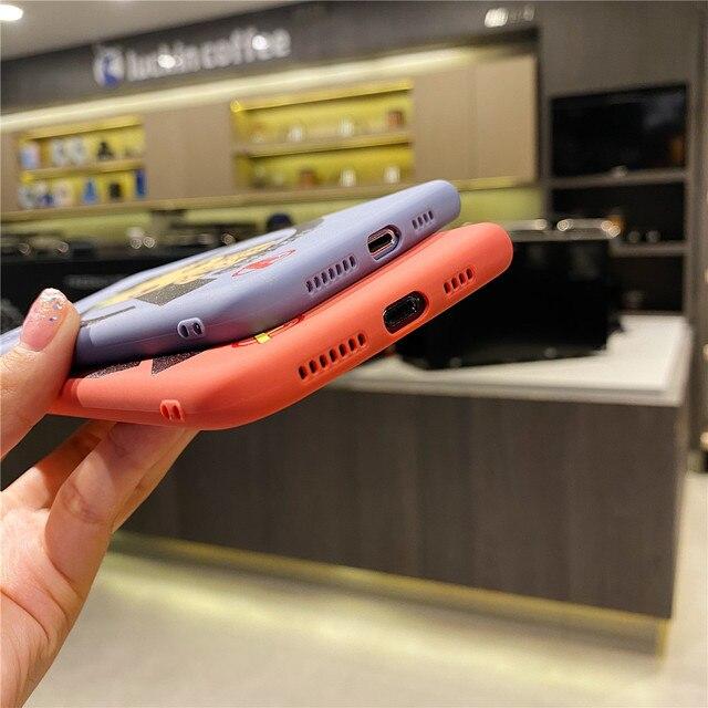 Ins modna tęcza zdjęcie uśmiech etui na telefony dla iphone 7 8 6 s Plus 11 pro X Xs Max Xr ziemia samolot przezroczyste soczewki pokrywa ochronna