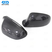 A4 A5 side Mirror Cover For Audi S5 Q3 B8 A6 S3 Carbon Fiber Rearview Mirror Case With& Without Lane Assist 2008 2009 2010-2015 2pcs set carbon fiber replacement side wing rear view rearview mirror cover w o side lane assist for audi a8 a3 q3 a4 b8 a5 a6