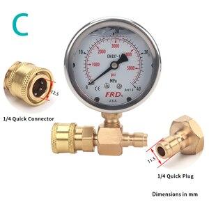 "Image 5 - مقياس ضغط غسالة الضغط العالي ، مقياس الضغط العالي مع تركيب G1/4 ""، مقياس ضغط هيدروليكي 400Bar 6000PSI"