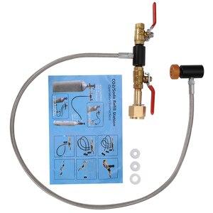 Image 4 - G1/2 CO2 Cilindro di Ricarica Adattatore con il Tubo Flessibile per il Riempimento di Bottiglia Cilindro Serbatoio di Aria Co2 Riempito Adattatore Inflazione